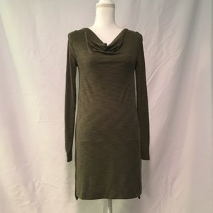 Anthropologie x Pure Good Ribbed Dress in Moss